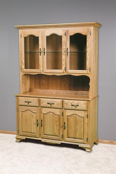 Oak tree furniture amish furniture quality amish made for Dining room hutch dimensions